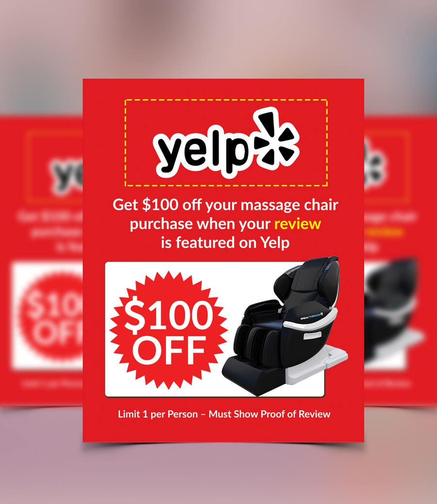 Proposition n°89 du concours FAST WORK - EASY MONEY - Design a Yelp Promotional Flyer