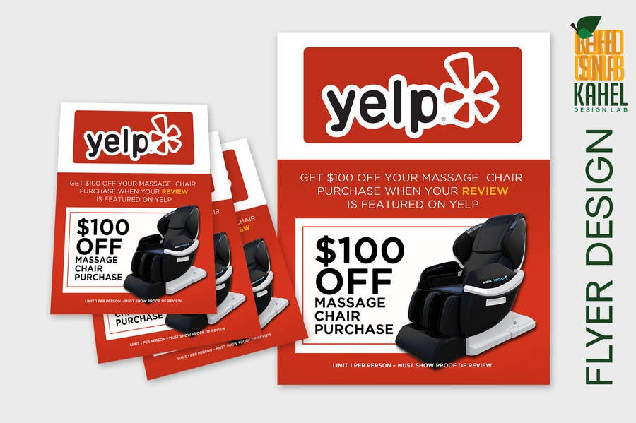 Proposition n°94 du concours FAST WORK - EASY MONEY - Design a Yelp Promotional Flyer
