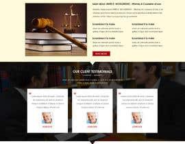 nº 4 pour Design a Website Mockup for Lawyer par webidea12