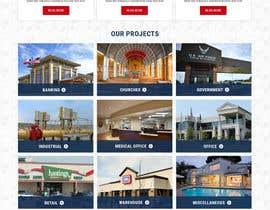 Nro 64 kilpailuun Design a Website Mockup for Commercial Builders käyttäjältä vishaldz9ow