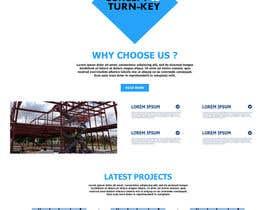 Nro 48 kilpailuun Design a Website Mockup for Commercial Builders käyttäjältä TheDzoni