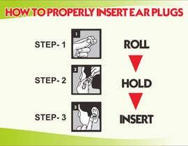 Nro 6 kilpailuun Earplug Instructions - Poster Design Comp käyttäjältä yunitasarike1