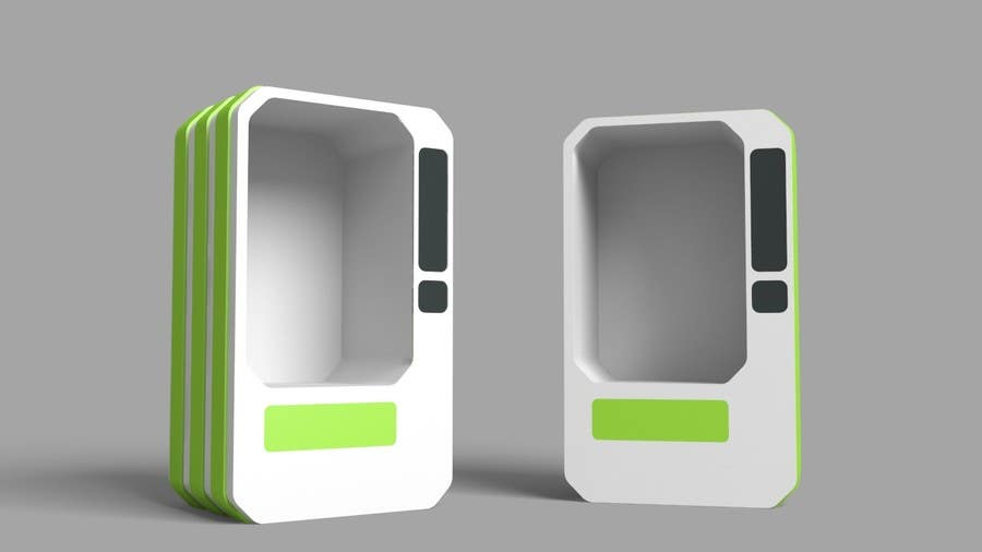 Proposition n°2 du concours Exciting Project! Vending Machine and Food :) 3D Modelling and Product Design