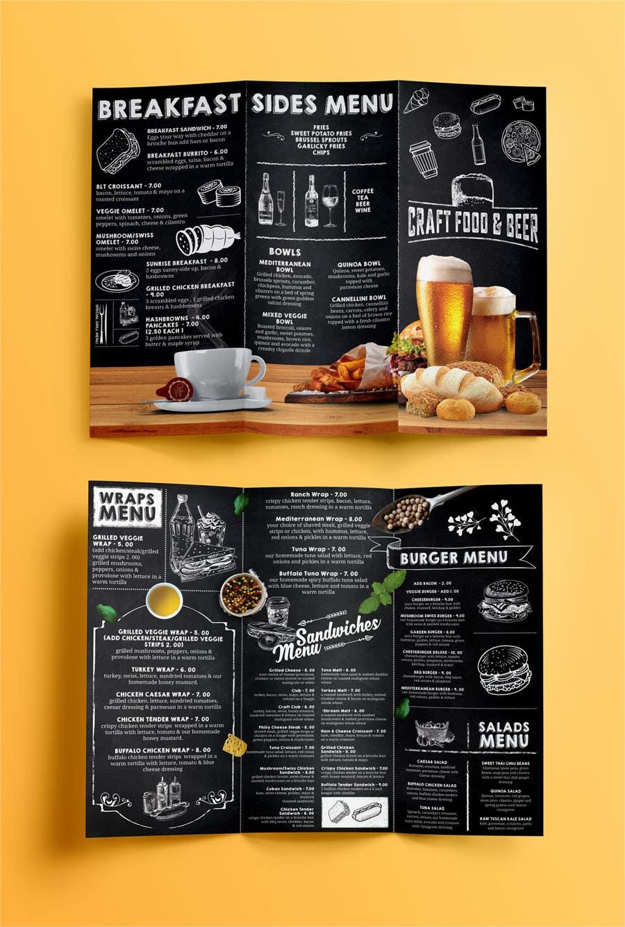 Proposition n°34 du concours Design a menu