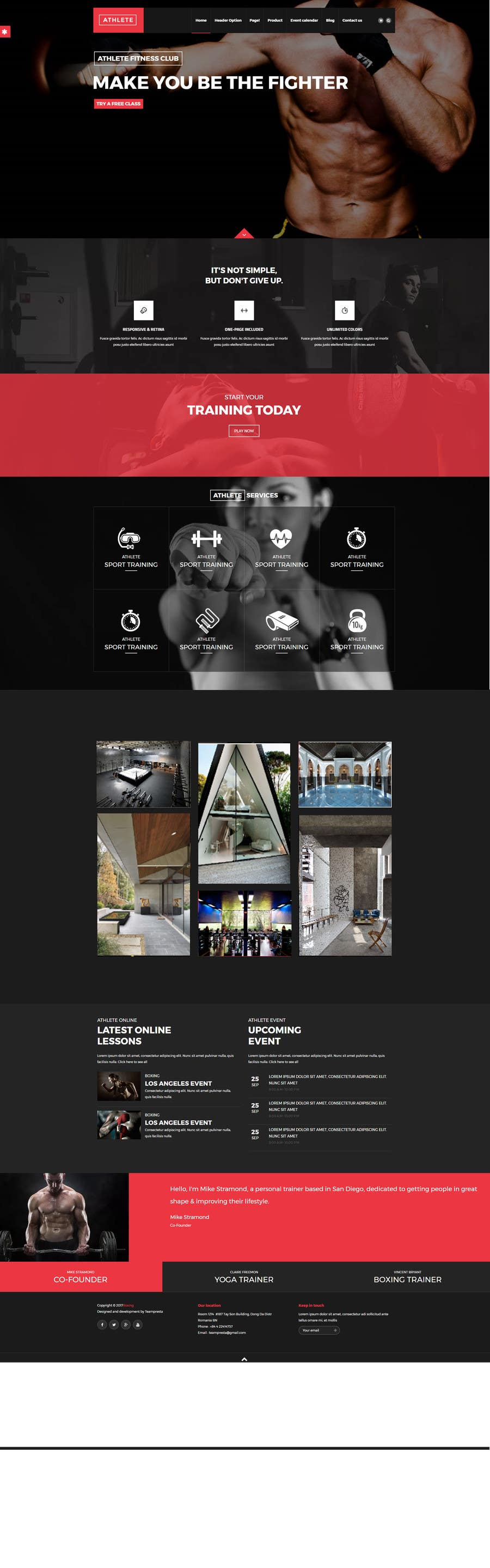 Proposition n°2 du concours Design and branding for a new cool (but nice) boxing gym down the block