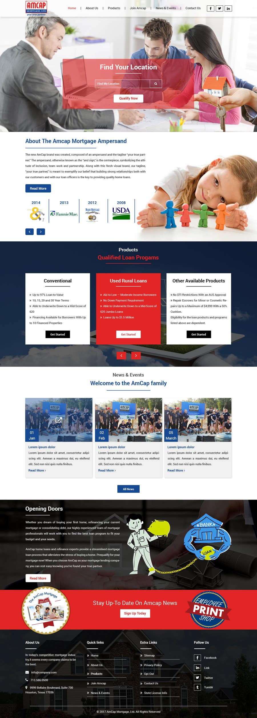 Proposition n°5 du concours Design a Website Mockup - HOMEPAGE ONLY - for a Mortgage Company