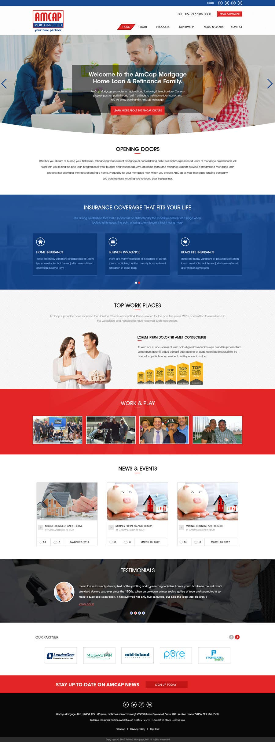 Proposition n°2 du concours Design a Website Mockup - HOMEPAGE ONLY - for a Mortgage Company