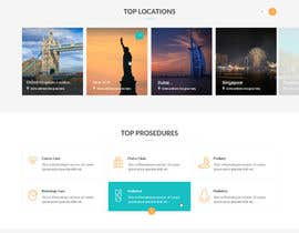 nº 17 pour Homepage Design for a Medical Hub par zaxsol