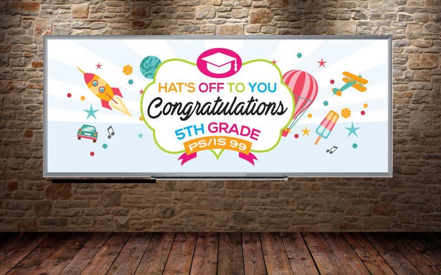 Proposition n°12 du concours Create a Banner for a School Graduation