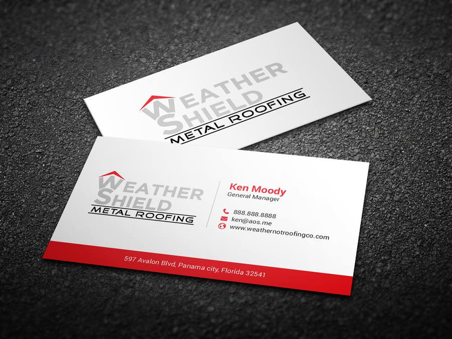 Entry #7 by BikashBapon for Design some Business Cards for roofing ...