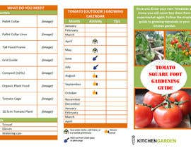 nº 9 pour Vegetable Growing  How to Guide card & calender par loreleidelmonte