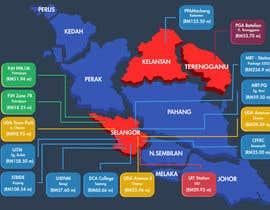 nº 34 pour Infographic Map par Kmrl