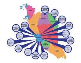 nº 8 pour Infographic Map par skhadijahzahid