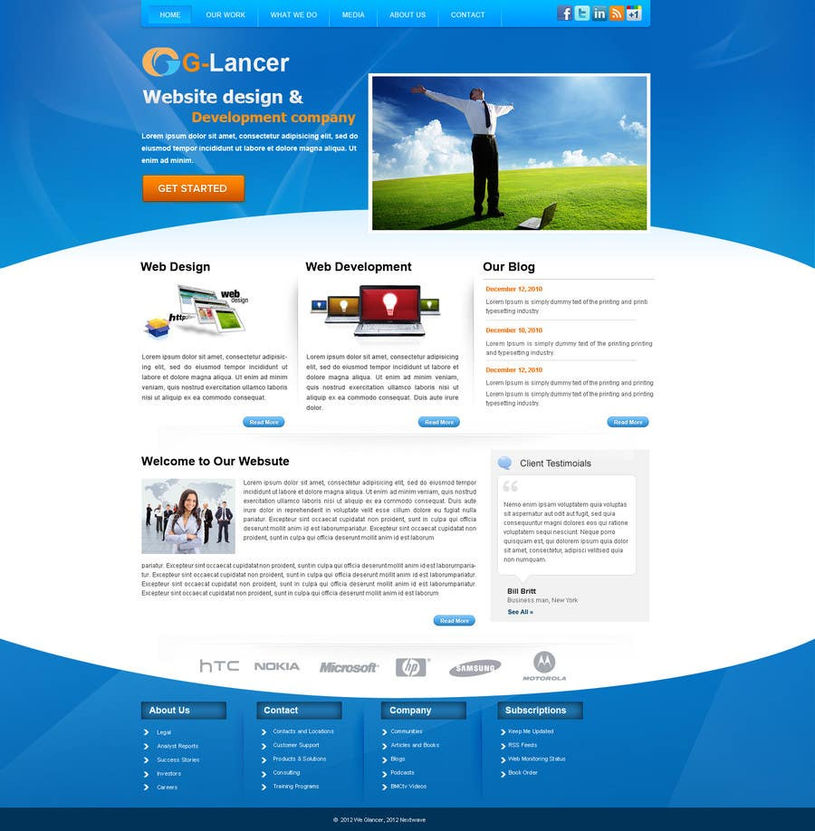 #11 for Website Design for G-Lancer by alimoon138