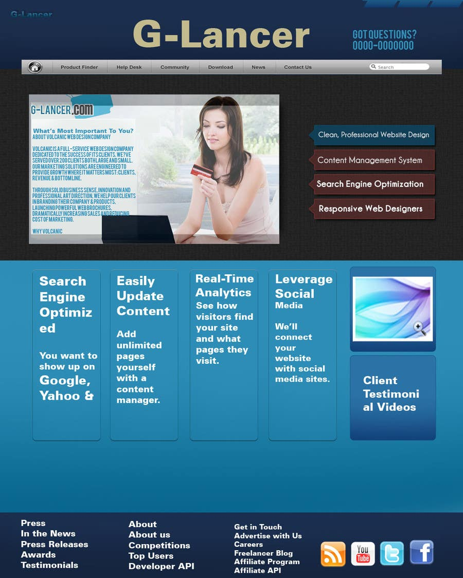 #8 for Website Design for G-Lancer by burhanbd