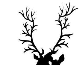 nº 15 pour Illustrate deer silhouette par MadArtz11