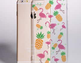 nº 1 pour Flamingo and pineapple repeating pattern for a phone case. par nico1304