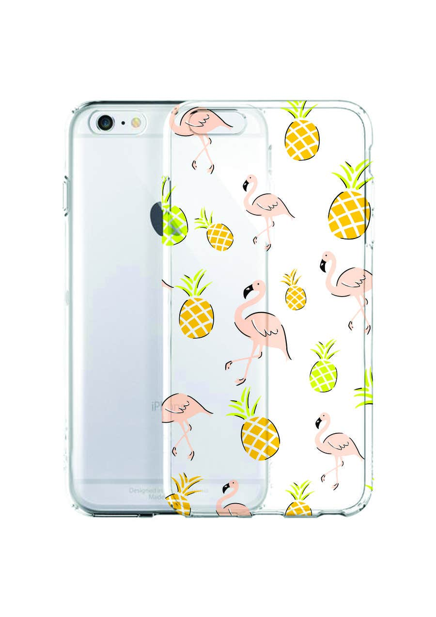 Proposition n°23 du concours Flamingo and pineapple repeating pattern for a phone case.