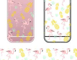 nº 13 pour Flamingo and pineapple repeating pattern for a phone case. par yuntaraquel