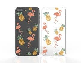 nº 4 pour Flamingo and pineapple repeating pattern for a phone case. par JulioEdi