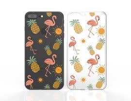 nº 20 pour Flamingo and pineapple repeating pattern for a phone case. par JulioEdi