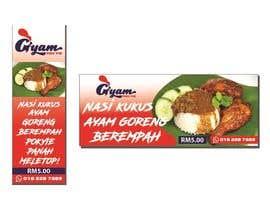 nº 29 pour Banner + Bunting for - Nasi Kukus Ayam Pokyie par Flawira