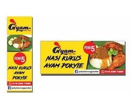 nº 56 pour Banner + Bunting for - Nasi Kukus Ayam Pokyie par Flawira