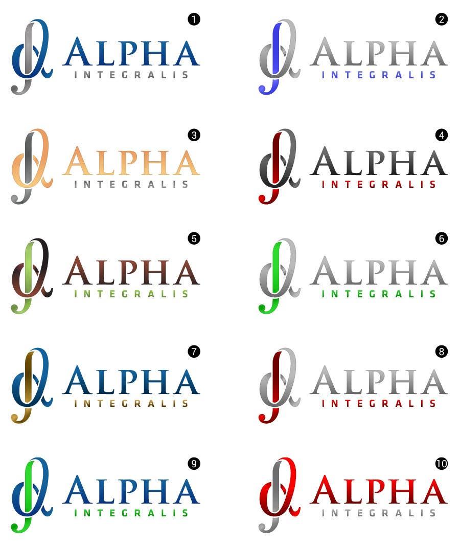 Penyertaan Peraduan #132 untuk Logo Design for Alpha Integralis