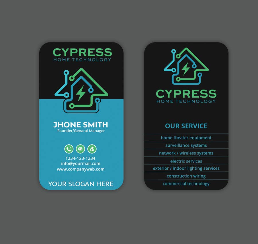 Entry #222 by Sagor7777 for Business Card Design - Technology ...
