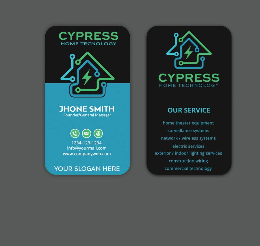 Entry #230 by Sagor7777 for Business Card Design - Technology ...