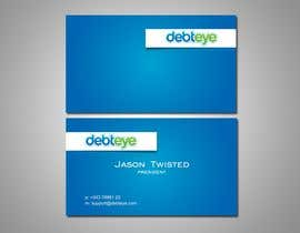 #27 para Business Card Design for Debteye, Inc. por F5DesignStudio