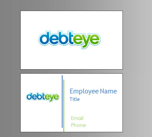 Contest Entry #134 for Business Card Design for Debteye, Inc.