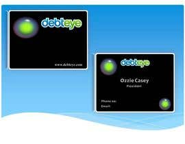 #137 para Business Card Design for Debteye, Inc. por sidfidato