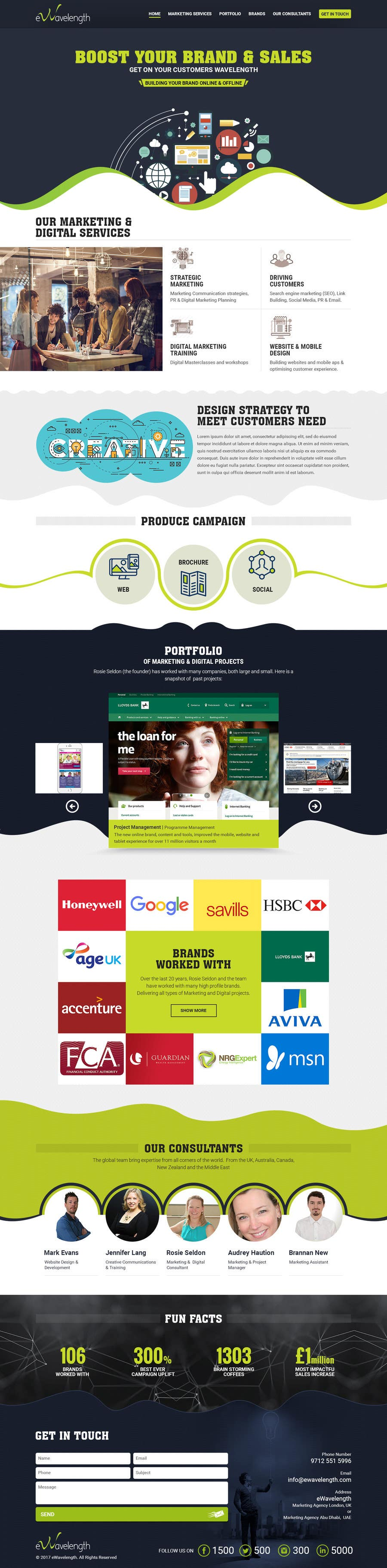 Proposition n°11 du concours Design a Website Homepage for Marketing and Digital Company