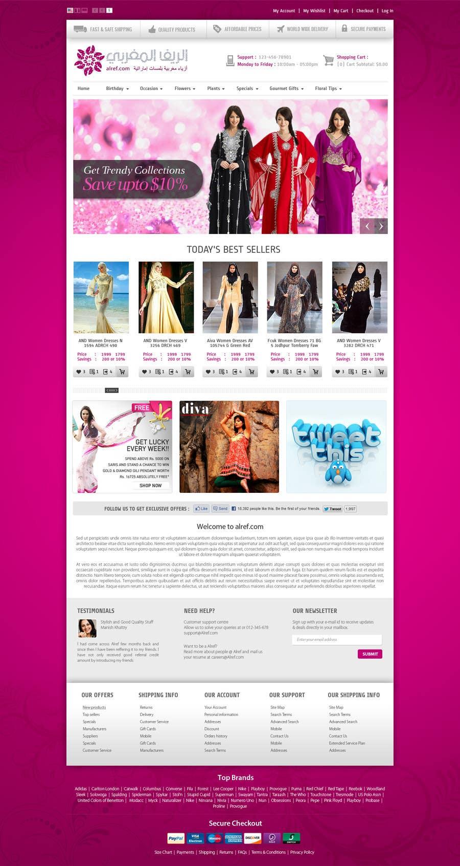 Inscrição nº                                         1                                      do Concurso para                                         Website Design for fashion business