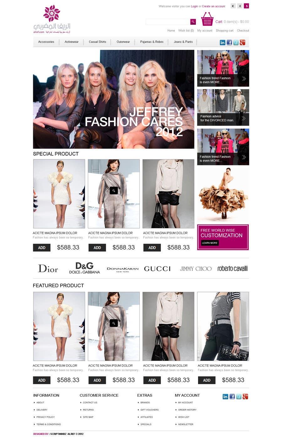 Inscrição nº                                         32                                      do Concurso para                                         Website Design for fashion business