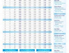 nº 16 pour Design a Ramadaan Calendar par Flywithstyle