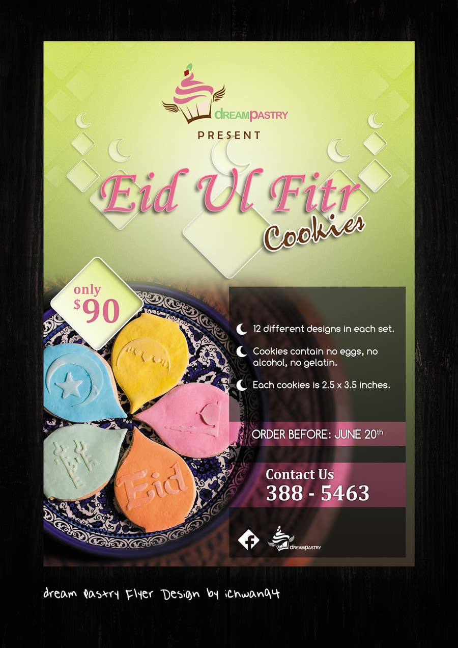 Proposition n°6 du concours Specialty Bakery Needs Eid Ul Fitr  Flyer