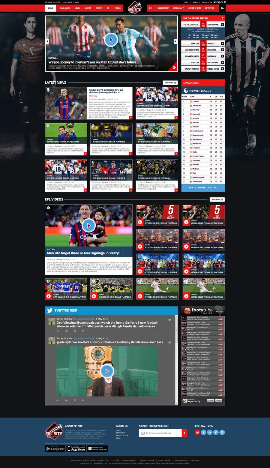 Proposition n°38 du concours Design a Mockup for Football website