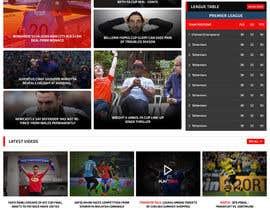 nº 30 pour Design a Mockup for Football website par princevenkat