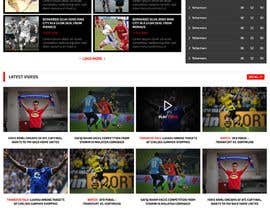 nº 48 pour Design a Mockup for Football website par princevenkat