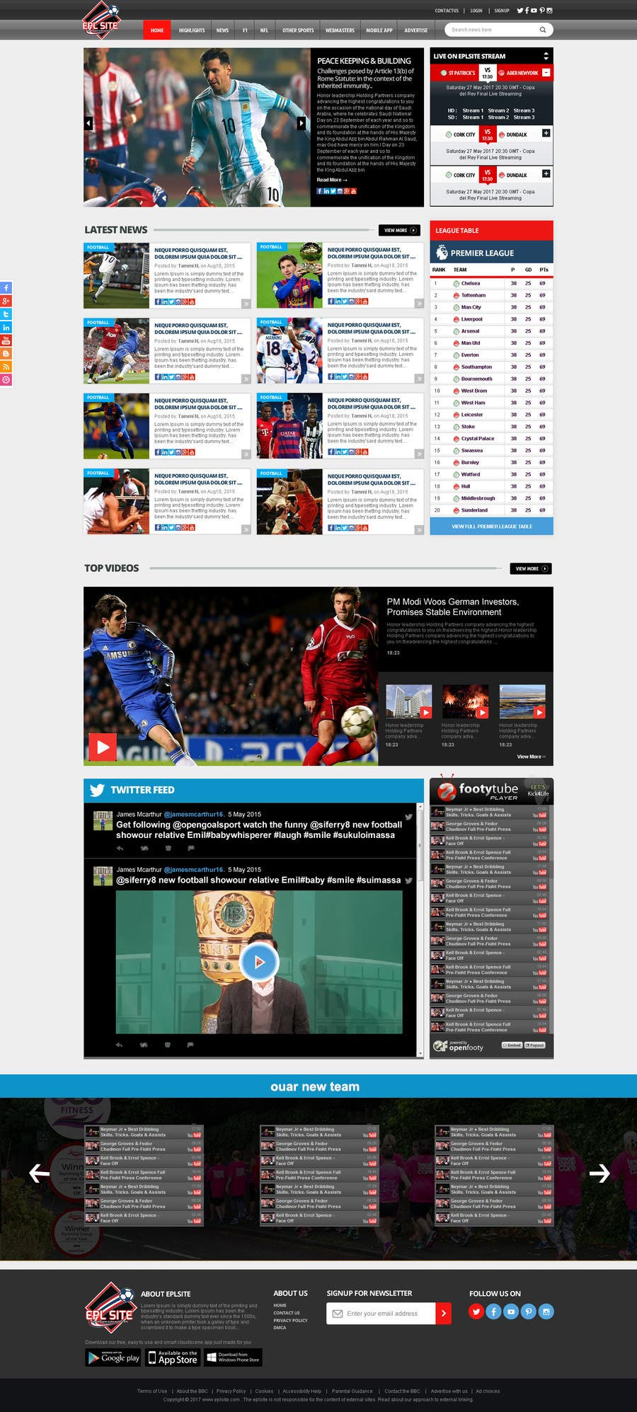 entry 55 by graphicd7 for design a mockup for football website