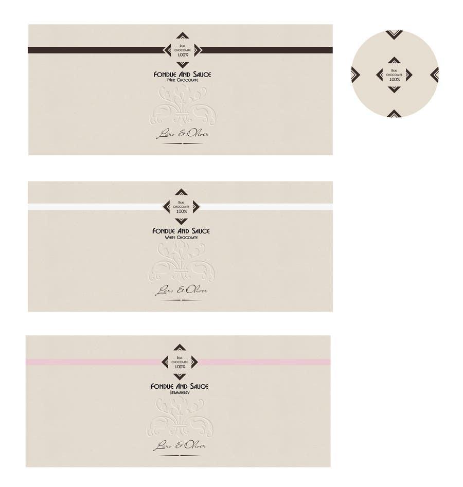 Bài tham dự cuộc thi #                                        42                                      cho                                         Print & Packaging Design for Lars & Oliver Real Chocolate Fondue & Sauce