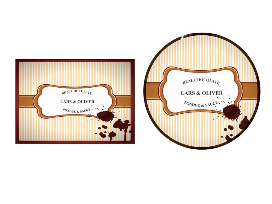 Bài tham dự cuộc thi #                                        36                                      cho                                         Print & Packaging Design for Lars & Oliver Real Chocolate Fondue & Sauce