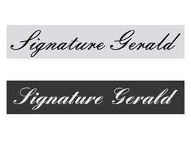 nº 22 pour Design A Signature Logo par Based24