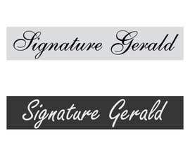 nº 23 pour Design A Signature Logo par Based24
