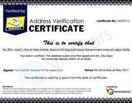 nº 7 pour Design a certificate par sitestars
