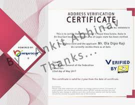 nº 4 pour Design a certificate par AnkitAbhinav