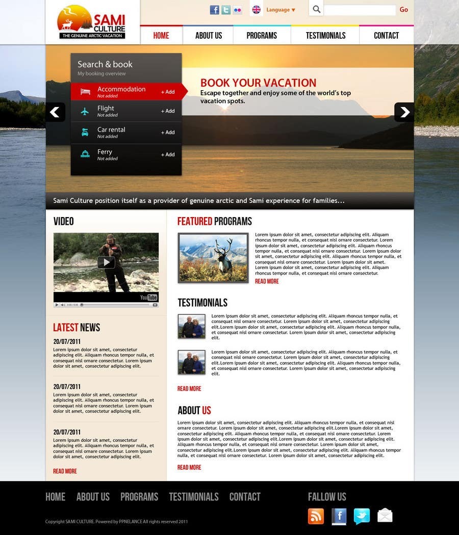 Contest Entry #                                        37                                      for                                         Website Design for Sami Culture (Joomla!)