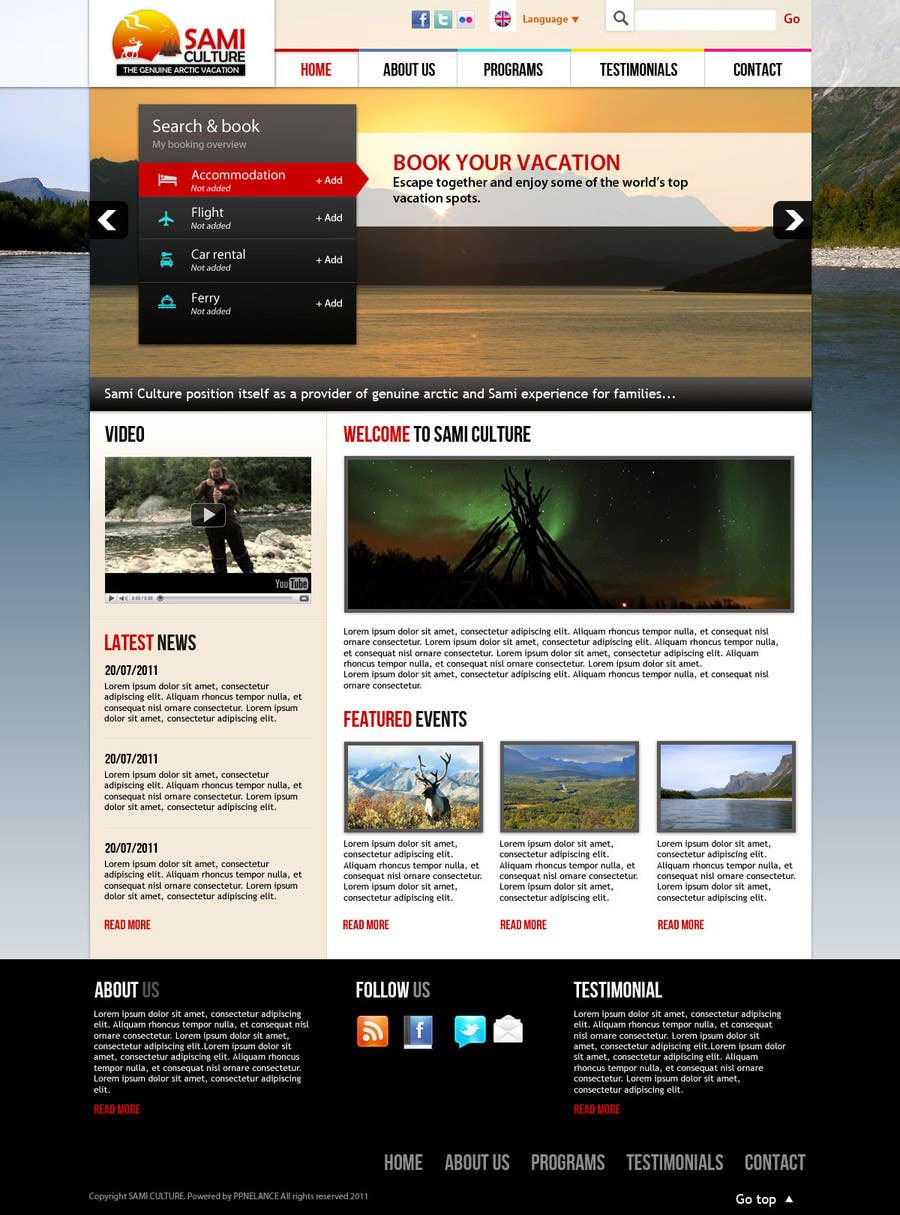 Contest Entry #                                        49                                      for                                         Website Design for Sami Culture (Joomla!)